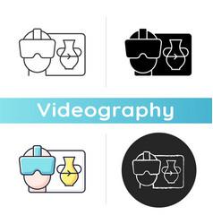Vr icon vector