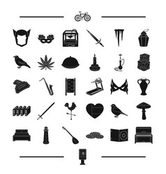 Weather weapon printing and other web icon in vector