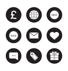 Web store black icons set vector image