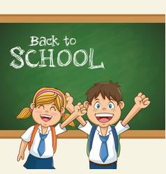 back to school student uniform education vector image vector image