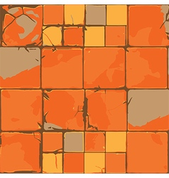 cracked tiles vector image vector image