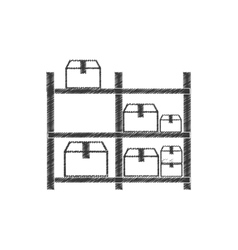 drawing warehouse storage boxes pictogram vector image vector image