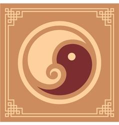 Oriental Pattern - Yin Yang Pattern vector image vector image