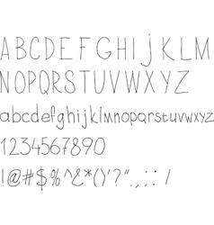 Simple sloppy handwriting vector