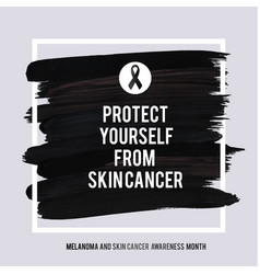skin cancer and melanoma awareness month vector image