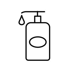 Thin line lotion icon vector