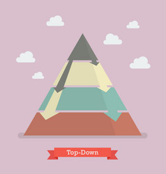 top-down pyramid business strategy vector image vector image