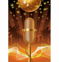 summer disco night vector image