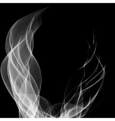 Abstract smoke isolated on black vector image