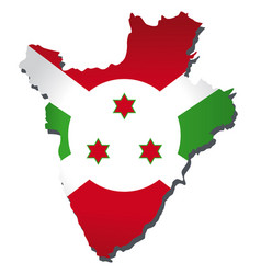 burundi flag amp map vector image vector image