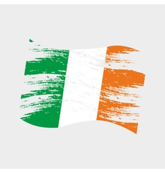 color ireland national flag grunge style eps10 vector image vector image