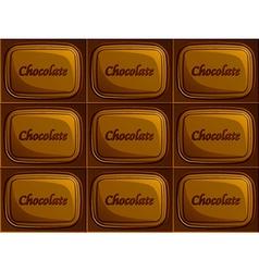 seamless chocolate vector image
