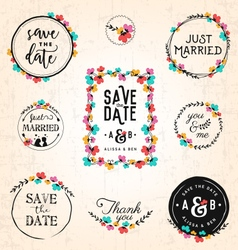 Wedding Design Elements for Invitations vector image