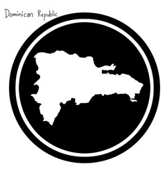 white map of dominican republic on vector image vector image