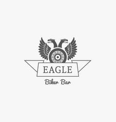 biker bar logo vector image