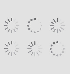 download sign indicator waiting icons set vector image vector image