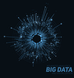 Abstract blue round big data vector