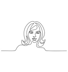 abstract portrait closeup of pretty young woman vector image