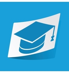 Academic hat sticker vector