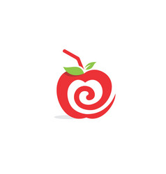 apple abstract juice logo vector image