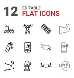 Arm icons vector
