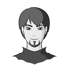 Avatar of a man with red eyes avatar and face vector