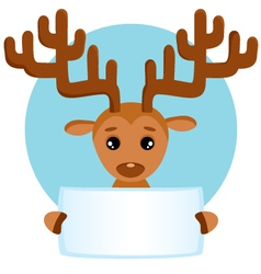 Banner with deer vector image