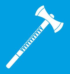 Big ax icon white vector