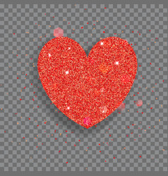 Big shiny heart vector
