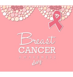 Breast cancer awareness day pink design vector image
