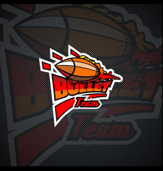 bullet team logo template vector image