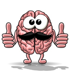 Cartoon brain vector image