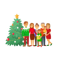 christmas celebration xmas winter holiday at home vector image