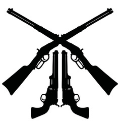 Classic Wild West guns vector image