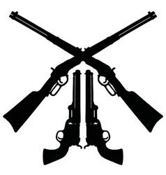 Classic Wild West guns vector