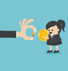 concept business women are exchanging money vector image