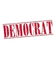 Democrat red grunge vintage stamp isolated on vector