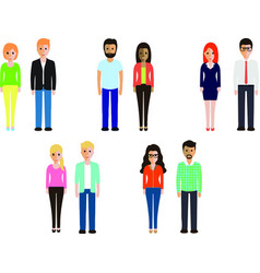 diffrent people vector image