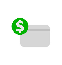 dollar credit card icon vector image