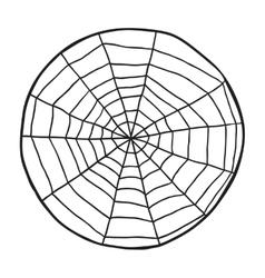 Doodle spiderweb isolated on white background vector