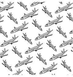 doodle travel airplane international transport vector image