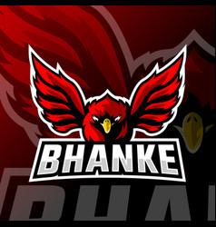 eagle mascot logo esport vector image