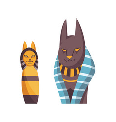 egyptian cat bastet goddess black cat vector image