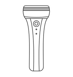 Electric razor icon outline style vector