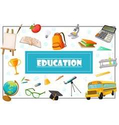 flat education concept vector image
