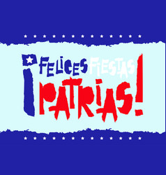 Flat fiestas patrias design card with text fiestas vector