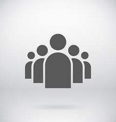 Flat group people icon symbol background vector