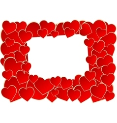 Frame of heart vector image