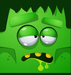 frankenstein characters halloween face vector image