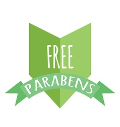 Free paraben label vector image